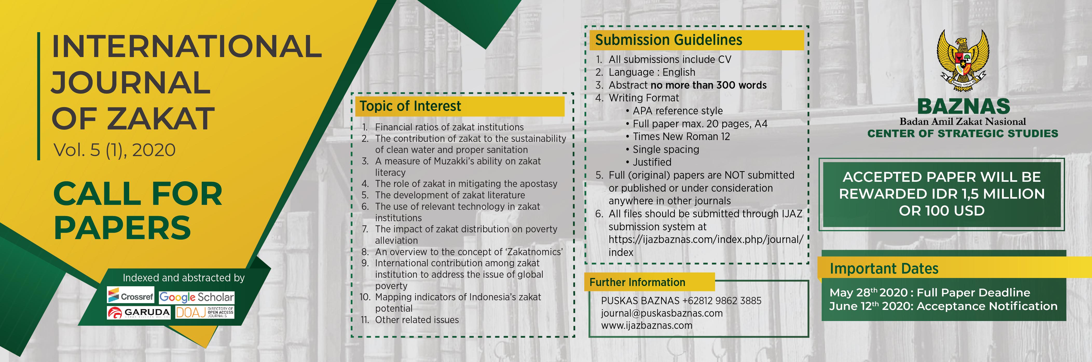 List Of Zakat Studies Syarif Hidayatullah State Islamic